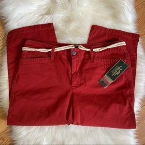 NWT Lauren Ralph Lauren Straight Leg Crop Pants 6